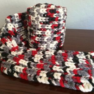 Other - Black/Red/Grey Scarf